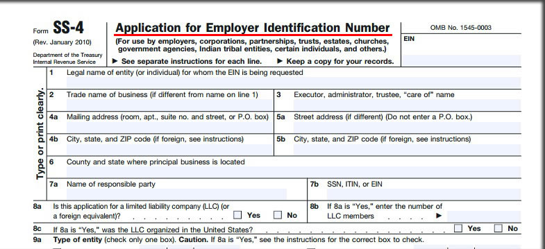 obtaining a tax id numbers