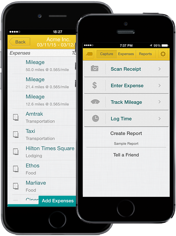 iPhone Expense Reporting App
